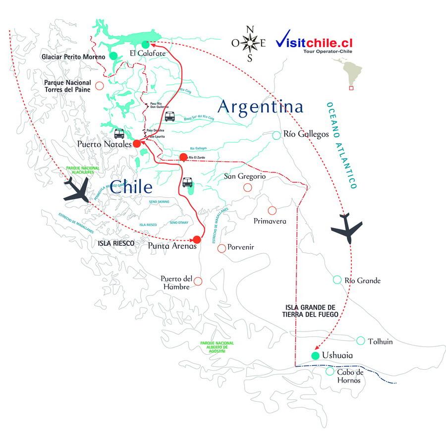 Viaje a la Patagonia Chilena y Argentina