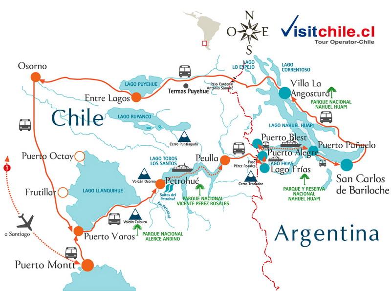 Mapa Cruce Andino y Cruce Trasandino